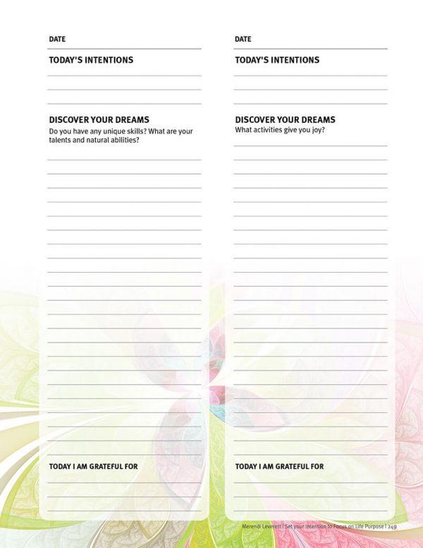 spiritual journal sample