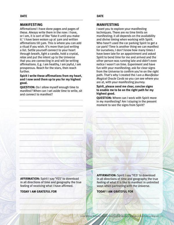 Spiritual Journal page
